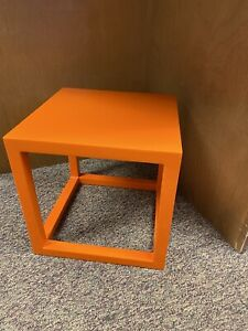 Jonathan Adler Orange Lacquer Cube Table 18""