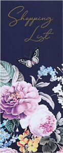 GARDEN OF EDEN Floral Magnetic Shopping List Tear Off Pages Memo Pad
