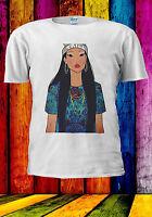 Punk Disney Princess Pocahontas T-shirt Vest Tank Top Men Women Unisex 523