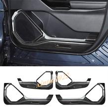 For Ford Explorer 2020 2021 Black titanium Interior Side Door Anti Kick Pad Trim