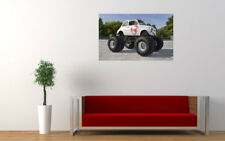 """OLD FIAT 500 MONSTER TRUCK PRINT WALL POSTER PICTURE 33.1""""x20.7"""""""