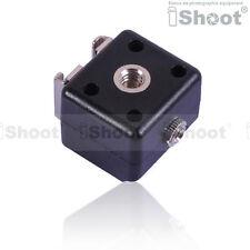 Dual-Hot Shoe Mount Adapter Flash Trigger wt 3.5mm SYNC Port f Nikon Pentax Metz