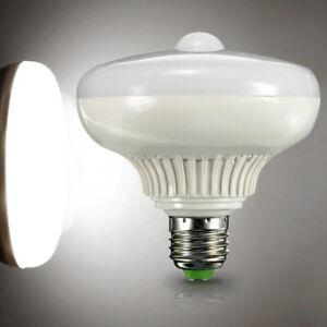 new E27 12W 1200LM LED Auto PIR Motion Sensor Light Lamp Globe Bulb White Light