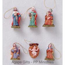 "Darice 2420-58 Miniature Christmas Tree Ornaments Nativity SET 1.25"""