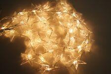 Lichterkette 40 LED Sternenvorhang Warmweiß Innen und Außen Strom Kabel 230 KV