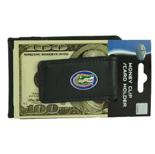 NCAA Florida Gators Money Clip Card  ID Holder Wallet Sport Fan Game Day Black