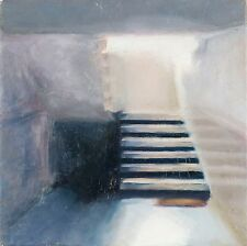 Shai-Yossef-signed-oil-painting-wall-art-decorat Climbing the stairs realistic