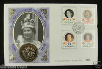 Guernsey Coin and Stamp First Day Cover, 1993,  40th Anniversary of Coronation