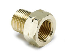 """Auto Meter 2370 Temperature Adapter Fitting 3/8"""" NPT to 5/8-18"""" Thread Brass"""