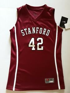 NEW NIKE STANFORD CARDINAL #42 RED BASKETBALL YOUTH JERSEY M