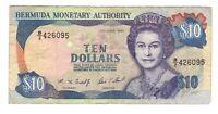 Vintage Banknote Bermuda 1997 10 Dollars VF Pick 42c US Seller