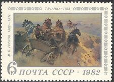Russian 1982 M Grekov/Artist/Horses/Art/Animals/Artists/Paintings 1v (n17772)
