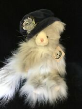 """Boyds Bears """"Miss Prissy Fussbun"""" 14"""" Furry Jointed Cat (New w/Tags)"""