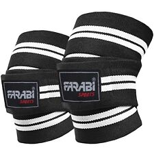 Farabi  Weight Lifting Knee Wraps Protection Power Weight lifting Wraps Bandage