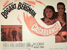 CASABLANCA ORIGINAL MOVIE POSTER HALF SHEET, 1942 BOGART