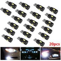 12V T10 CAR BULBS LED ERROR FREE CANBUS 6 SMD XENON WHITE SIDE LIGHT BULB