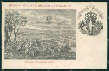 Militari II Reggimento Piemonte Cavalleria Luzzara ABRASA cartolina XF1876