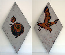 DAVID BROMLEY 'Seagull & Apple' early painting artwork