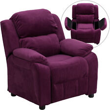 Kid Recliner Chair Armrest Comfortable Lounge Seat Cozy Microfiber Furniture New
