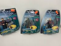 Star Trek: 1998 Warp Factor Series 1 by Playmates - Lot of 3 Spring Activated