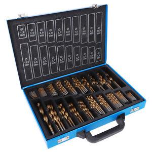 202pcs HSS Twist Drill Bit Set 1mm-13mm Steel Coating Metal Drill Storage Box