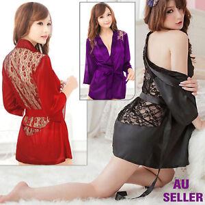 Women Sexy/Sissy Lingerie Nightwear Silky Nighty Lace Babydoll Ladies Underwear