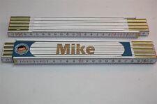Zollstock mit  NAMEN    MIKE   Lasergravur 2 Meter Handwerkerqualität