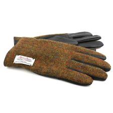Harris Tweed Handschuhe: Stornoway Braun kariert (groß)