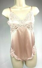 Vintage Nylon Vanity Fair Teddy Lingerie Romper Snap In Size 30 Usa Perfect!
