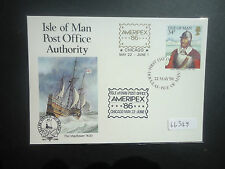 Isle Of Man 1986 Ameripex 86 (Douglas Postmark) (Pre Stamped Card No 6)