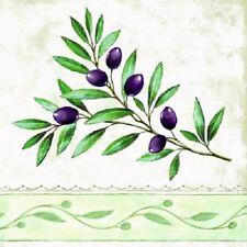 Napkins or Serviettes 3 ply paper Olive Branch Design (20) 33cm x 33cm opened