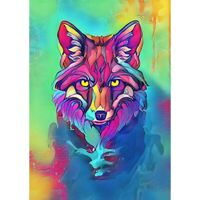 5D Full Drill DIY Diamond Painting Color Wolf Embroidery Cross Stitch Kits Art