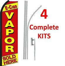 4 (four) VAPOR E-CIG 15' Standard Swooper KIT
