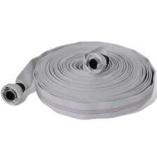 """30m Fire Hose Reel 1"""" Fighting Lay Flat Water Pump D Storz Fitting Canvas"""