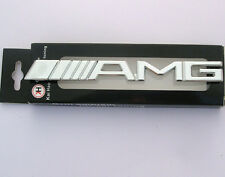 3D Car Front Grille Grill Emblem Tuning Metal Logo Badge fits AMG SILVER bG10