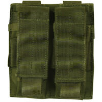 NEW - Military Style Tactical Dual Pistol Mag MOLLE Pouch - OD GREEN OLIVE DRAB
