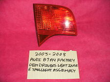 2005-2008 AUDI B7 A4 FACTORY OEM DRIVERS LEFT INNER TAILLIGHT FREE SHIPPING