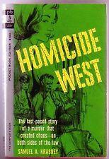 HOMICIDE WEST (Samuel Krasney/1st US pb/Abe Larson/NYPD/hardboiled)