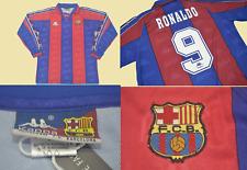 Fc barcelona jersey home 1996 1997 long sleeve ronaldo nazario shirt playera