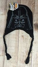 Disney Star Wars Winter Hat Darth Vader Black Young Boys One Size NEW