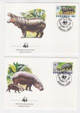 1984 Liberia WWF Endangered Species SG 1591/4 Set four FDC or Fine Used