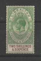 Gibraltar George V 2s & 6d Green & Brown, Mint High CV