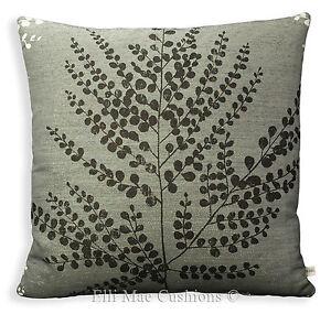 Harlequin Folium Charcoal Chalk Black White Designer Cushion Sofa Pillow Cover