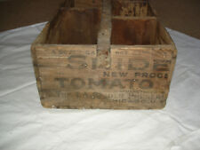 Antique Wood Advertising Tool Box Made w/T A Snider Preserve Co Tomato Soup Box