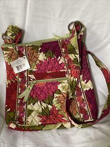 Vera Bradley HELLO DAHLIA HIPSTER Large CROSSBODY Handbag SHOULDER Purse BAG NWT