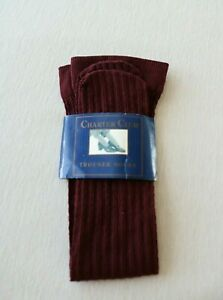NOS Vintage Charter Club Womens Trouser Socks Hosiery in Wine Color Sizes 9-11