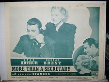 MORE THAN A SECRETARY, 1947 reissue LC (Jean Arthur, George Brent)