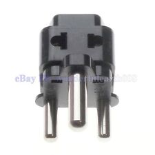 2 in 1 South Africa 15A Electrical Plug Adapter 2 Way Outlet Max 250V Black