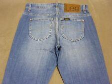 045 WOMENS NWT LEE MID RISE SKINNY LEG BLUE WASH STRETCH JEANS 7 $150.