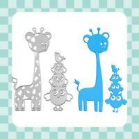 Metal Cutting Die - GIRAFFE - OWL  - Stencil - Template - Embossing - Crafting